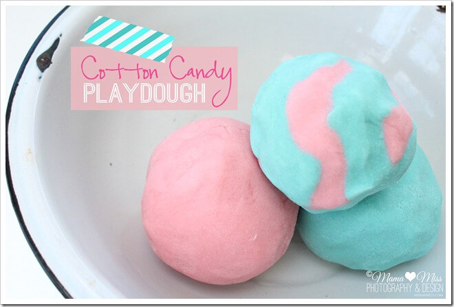 Cotton Candy Playdough - Mama Miss