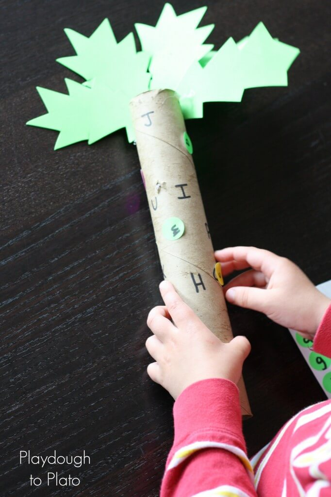 Chicka Chicka Boom Boom Game. Fun ABC game for kids!! {Playdough to Plato}