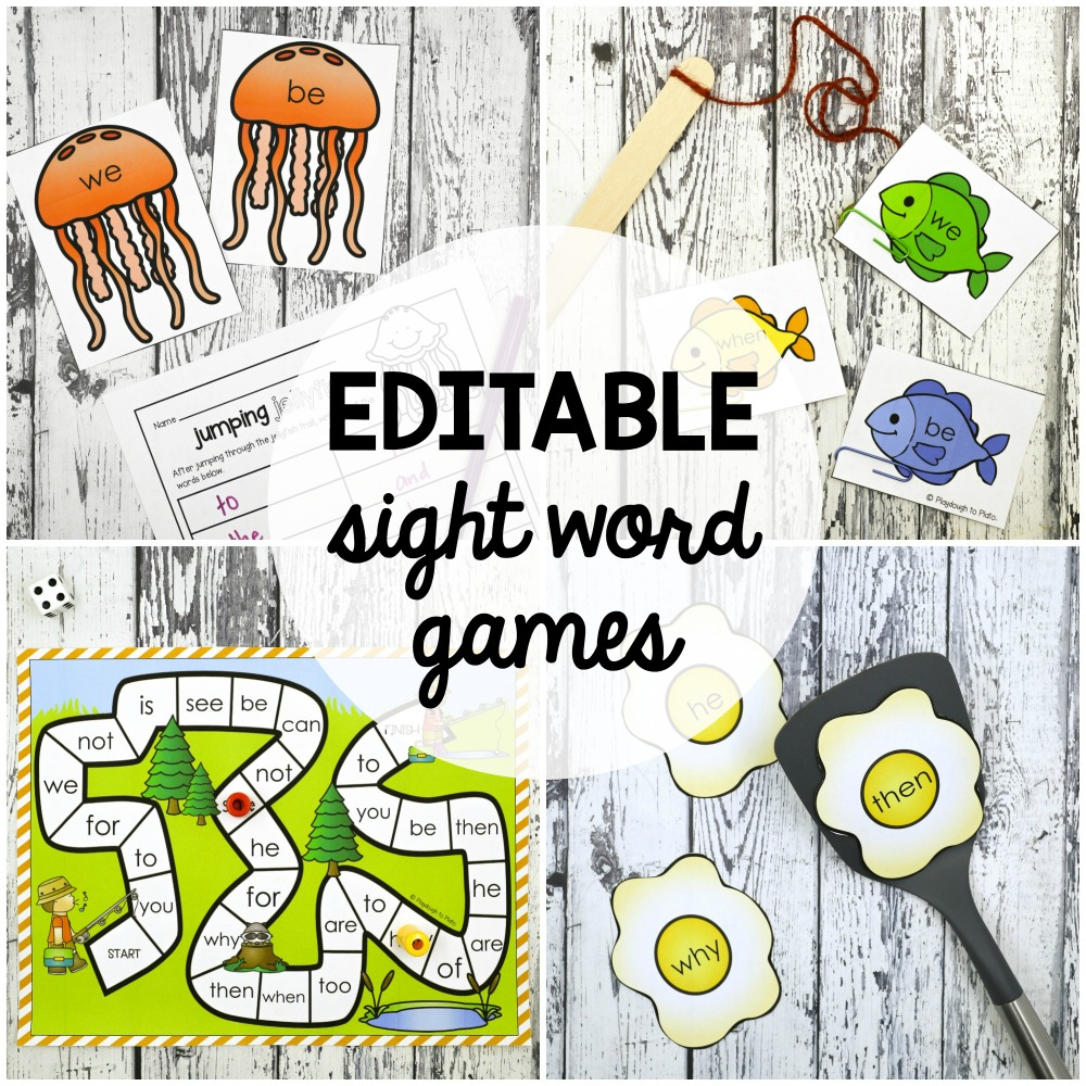 32 EDITABLE Sight Word Games