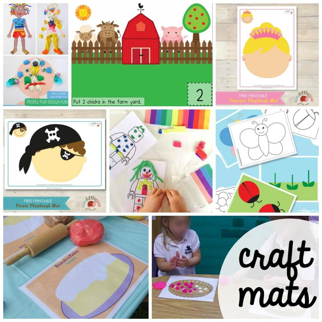100+ FREE Playdough Mats. Fun craft mats, math activities and literacy activities. Great for preschool and kindergarten.