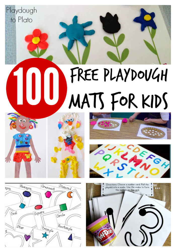 100 Free Playdough Mats for Kids