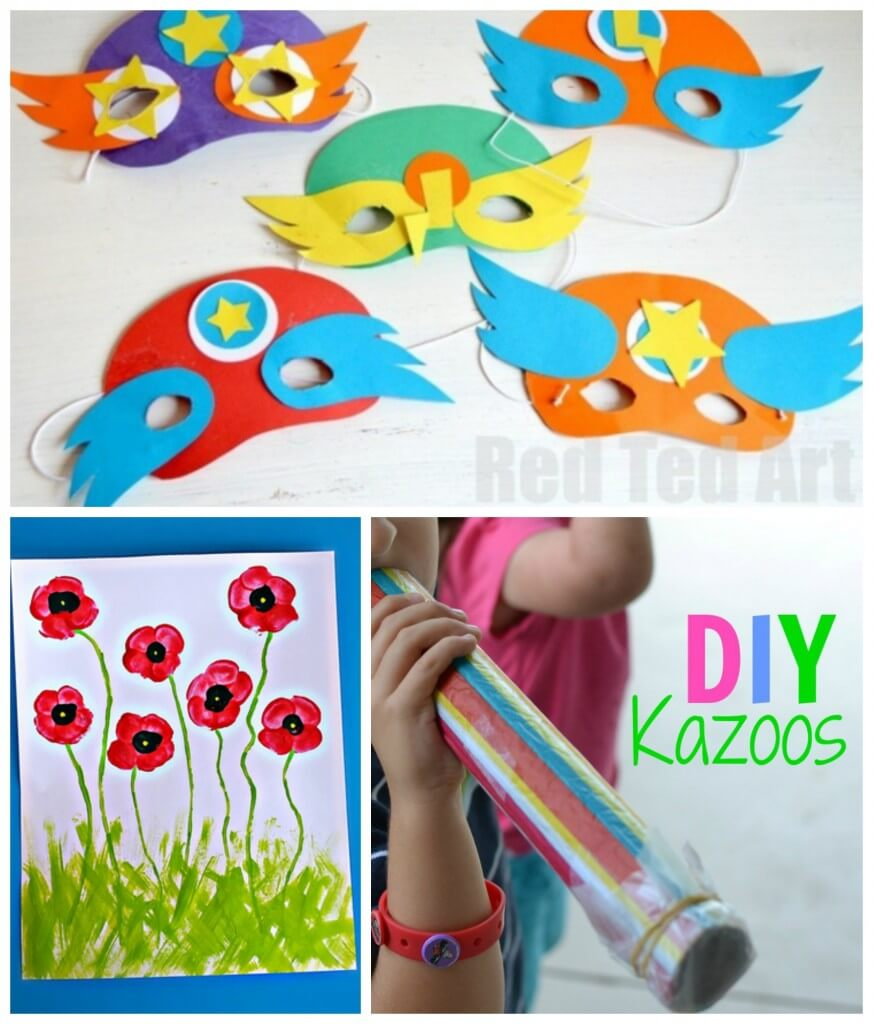 Colorful arts and crafts for kids!