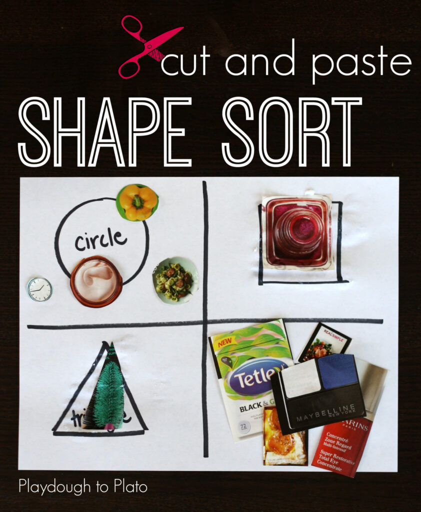 Cut and Paste Shape Sort