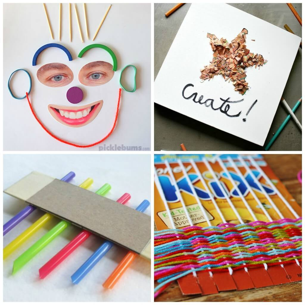 Lots of pretty arts and crafts for kids!