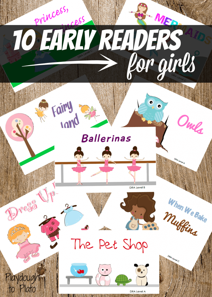 10 early reader books about things girls love most: pets, dress up, ballerinas, baking and more.