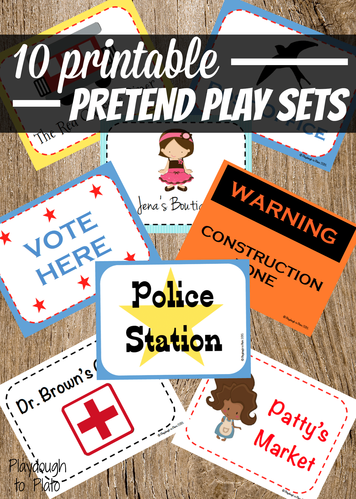 Editable Pretend Play Sets