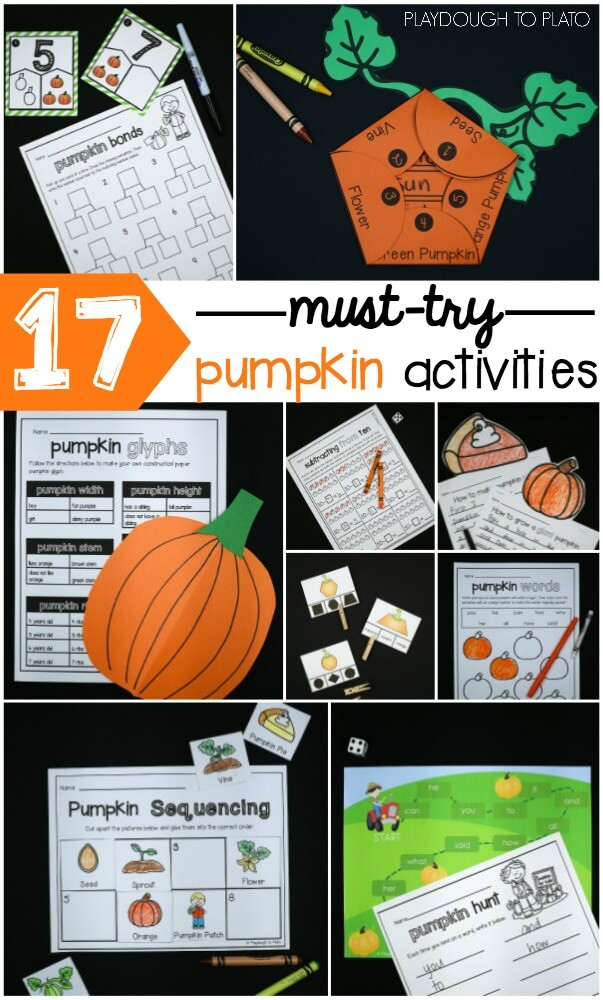 17 must-try pumpkin activities for first grade