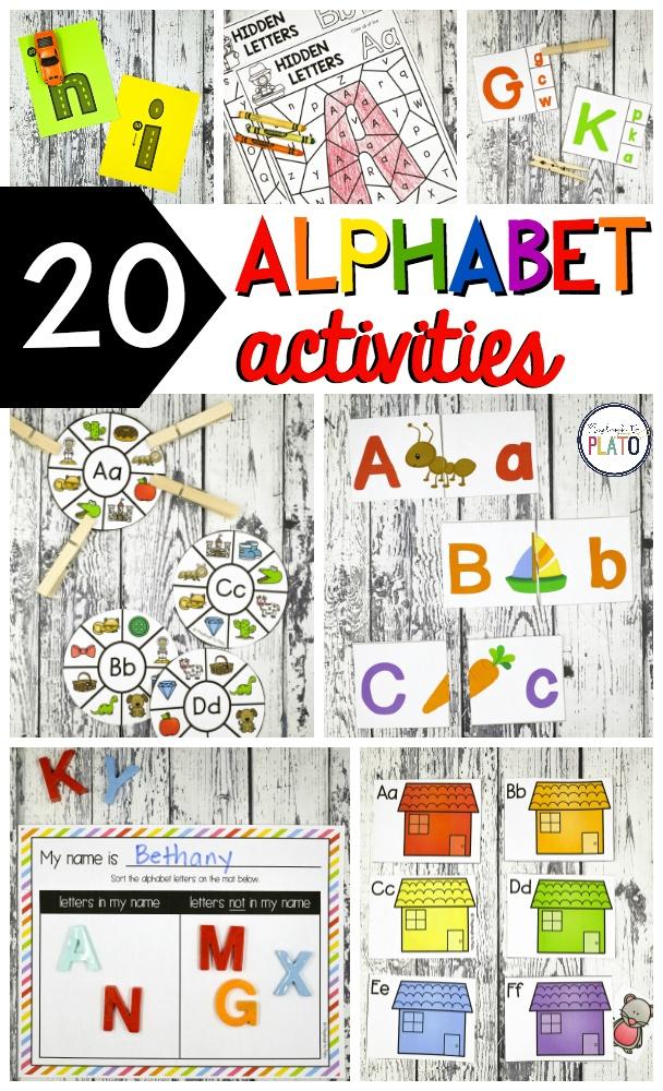23 Alphabet Centers