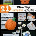 21 Pumpkin Activities for Kids!
