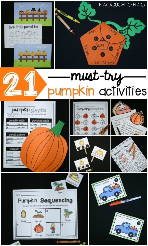 21 Pumpkin Activities for Kids!