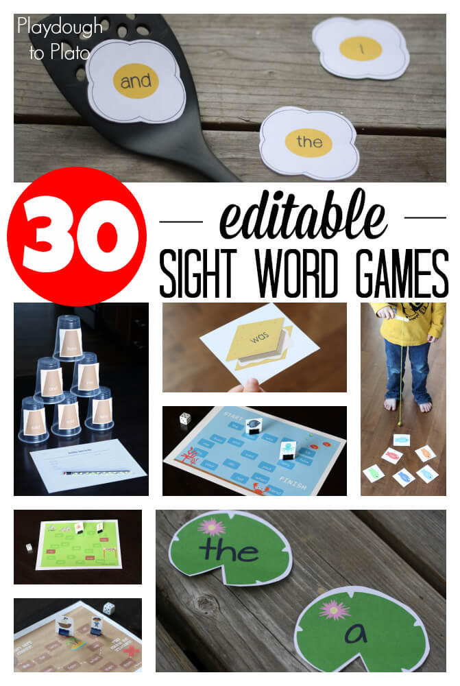 Sight Word Game Showdown Playdough To Plato