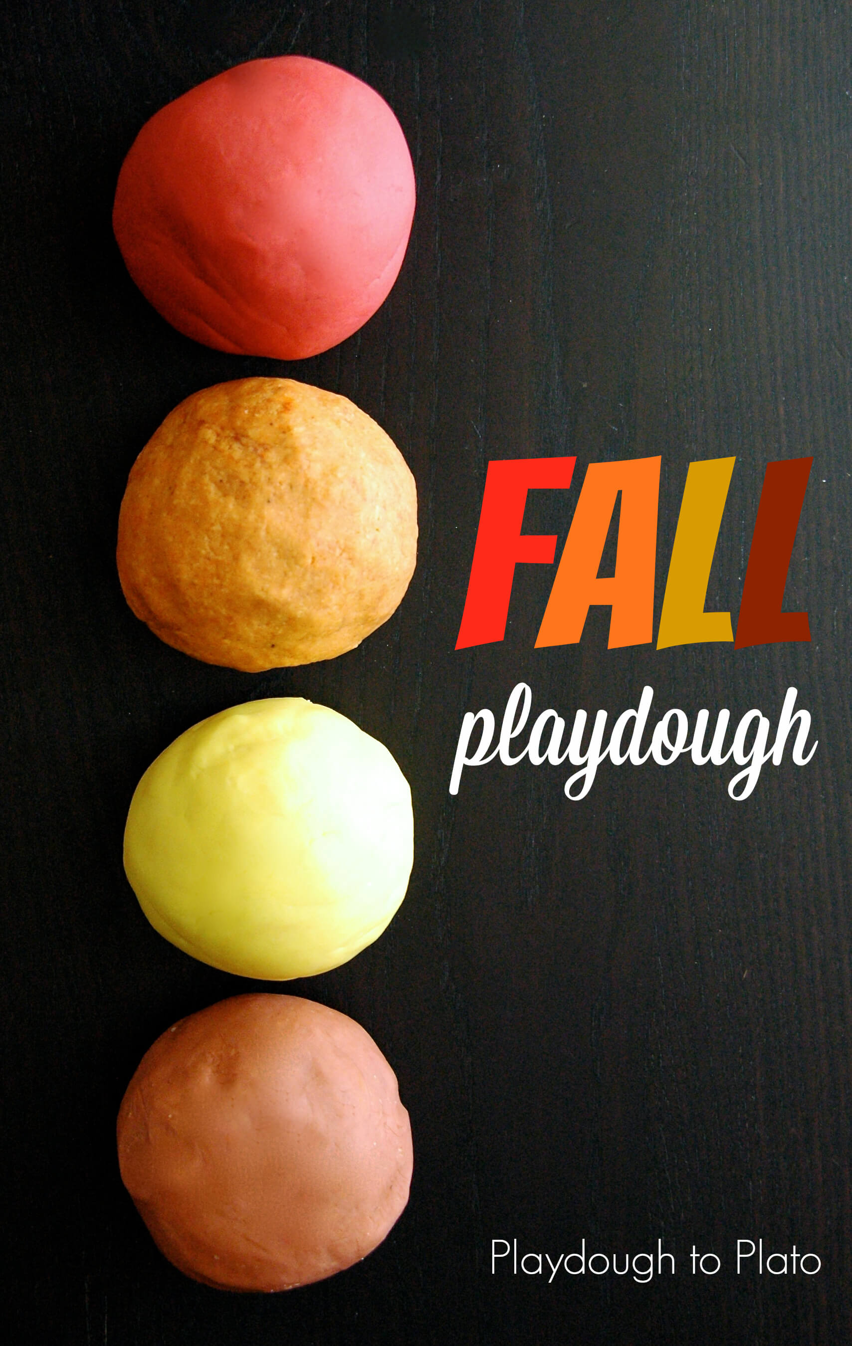 4 Playdough Recipes For Fall Playdough To Plato