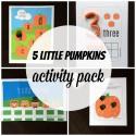 5 Little Pumpkins Activity Pack