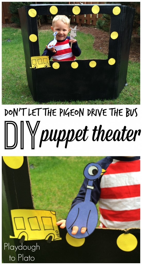 DIY Puppet Theatre for Don't Let the Pigeon Drive the Bus