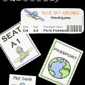 Editable Airplane Pretend Play Set