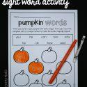 Editable sight word activity!