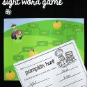 Editable sight word game!