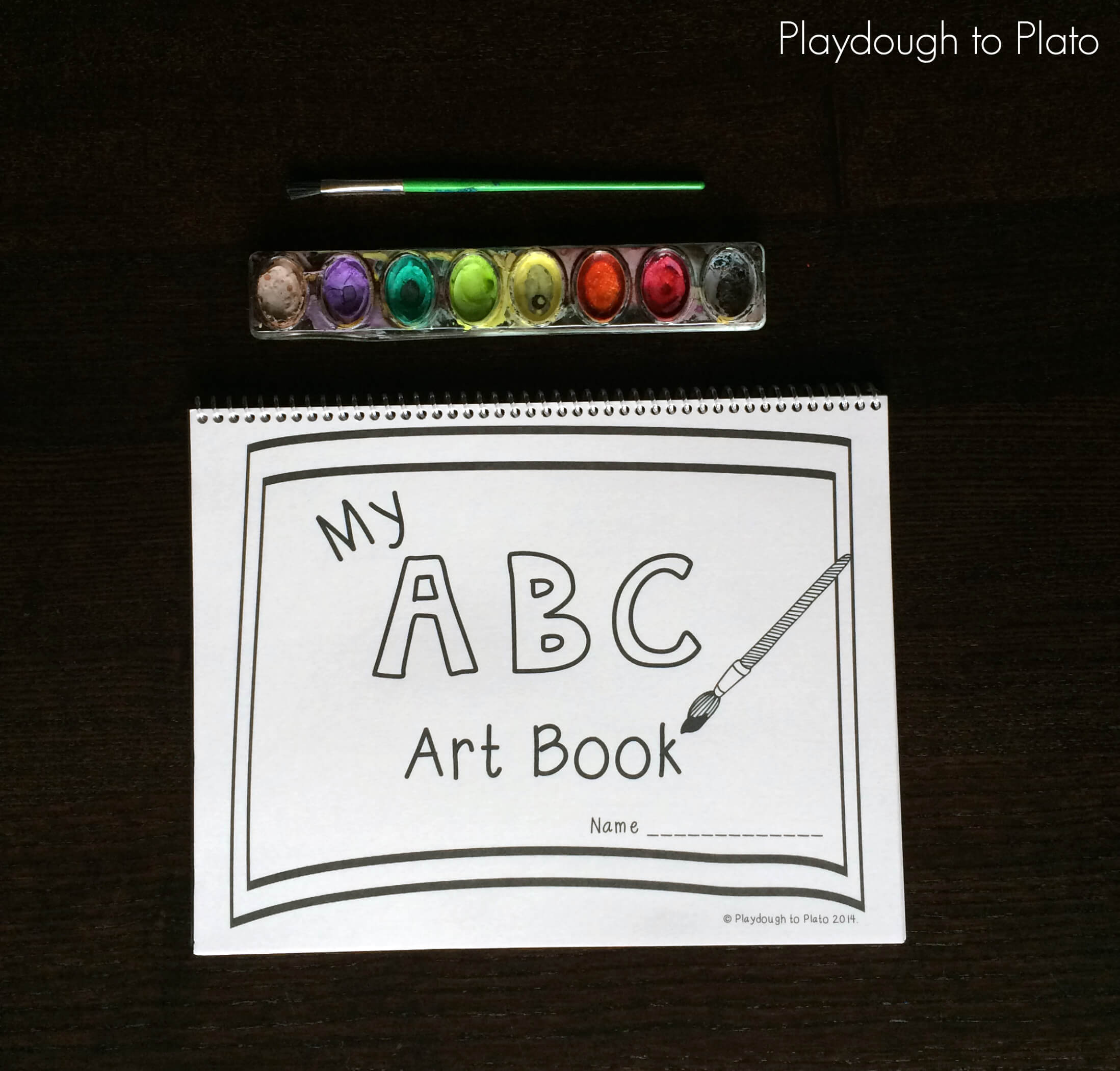 graphic regarding Abc Book Printable named Absolutely free Printable ABC E-book - Playdough Toward Plato