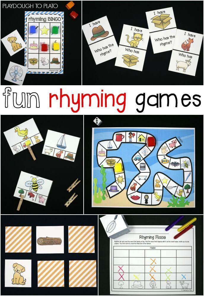 Fun rhyming games for kids!