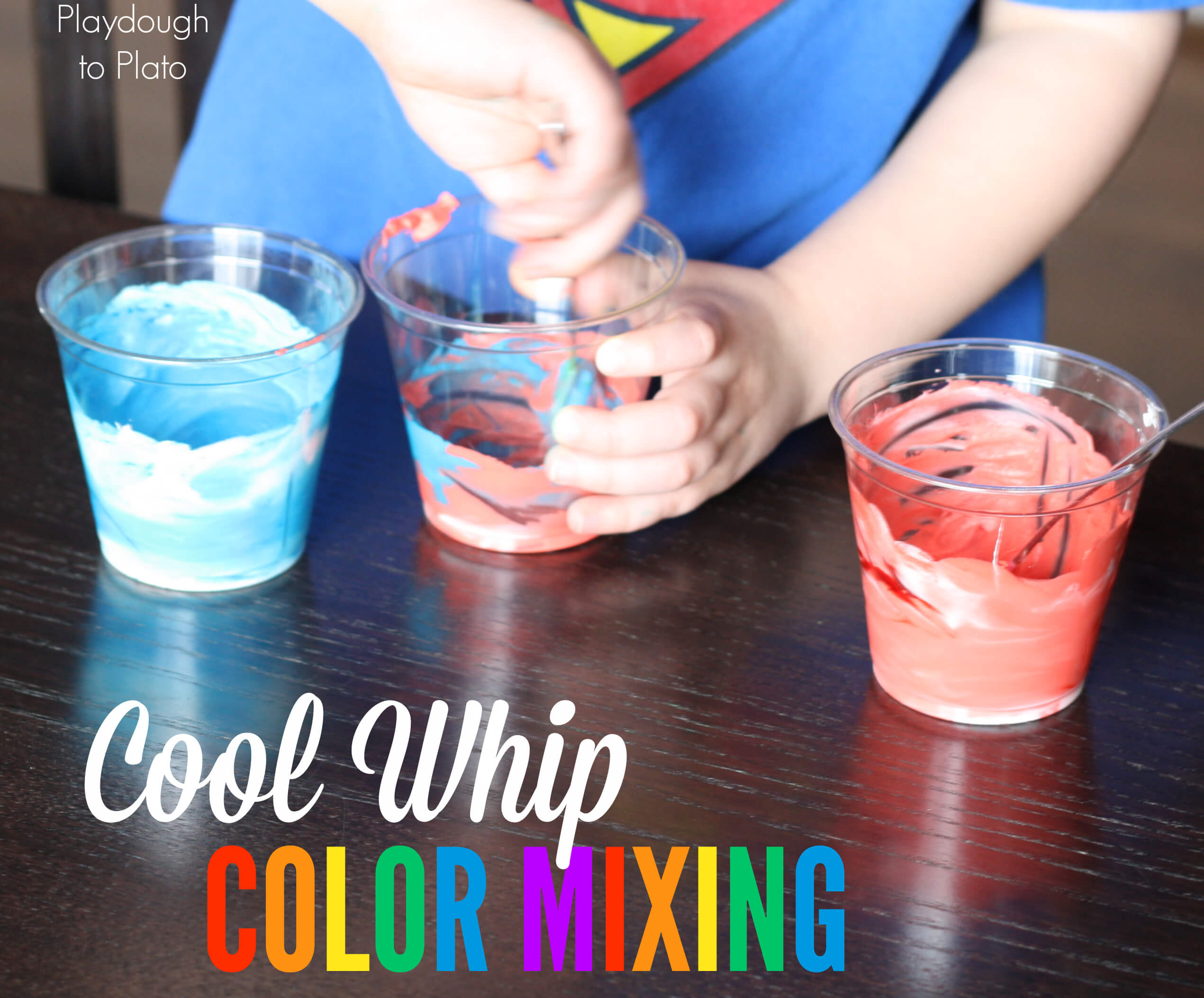 Learn Colors with Cool Whip