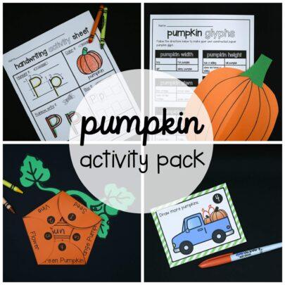 Preschool and Kindergarten Pumpkin Activity Pack