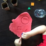 Shape Game: Playdough Stamping