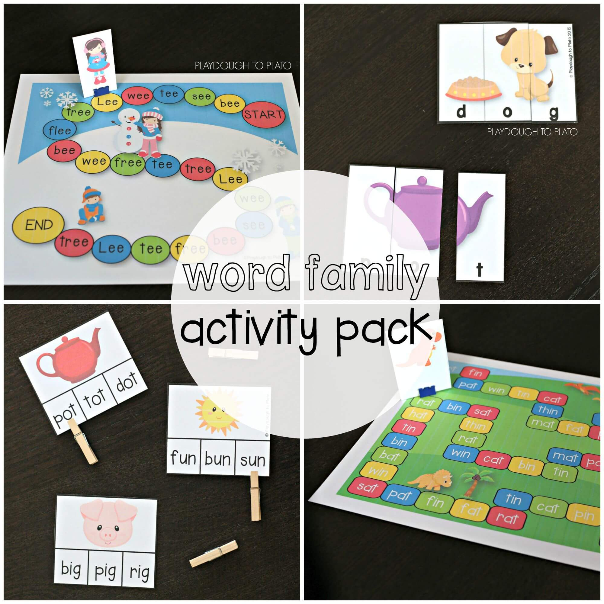 Family Activities: Word Family Activity Pack
