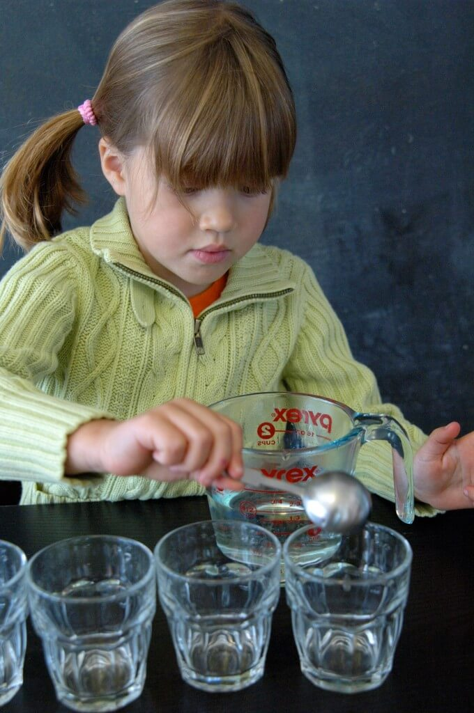 Awesome science activity for kids! Learn about density with this easy Skittles science experiment. {Playdough to Plato}