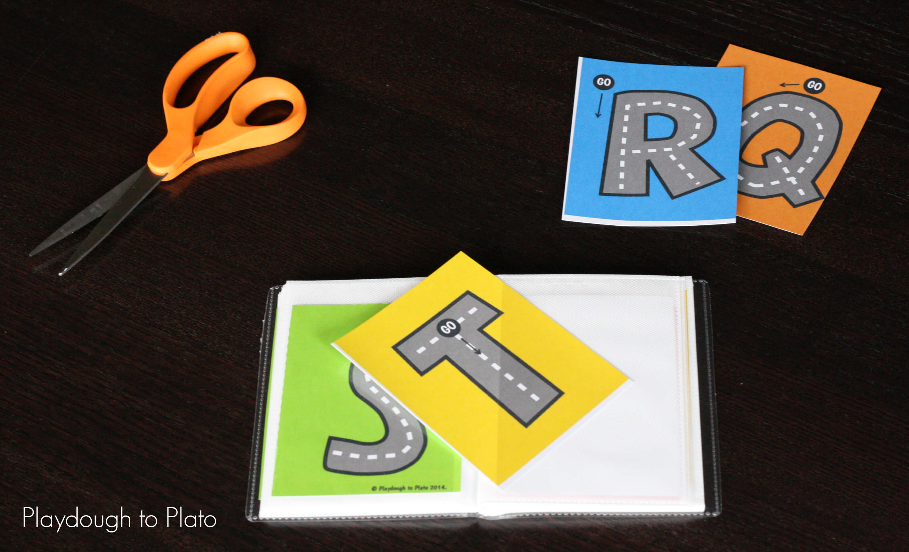 photo relating to Free Printable Alphabet Books named No cost Letter Tracing Streets - Playdough In direction of Plato