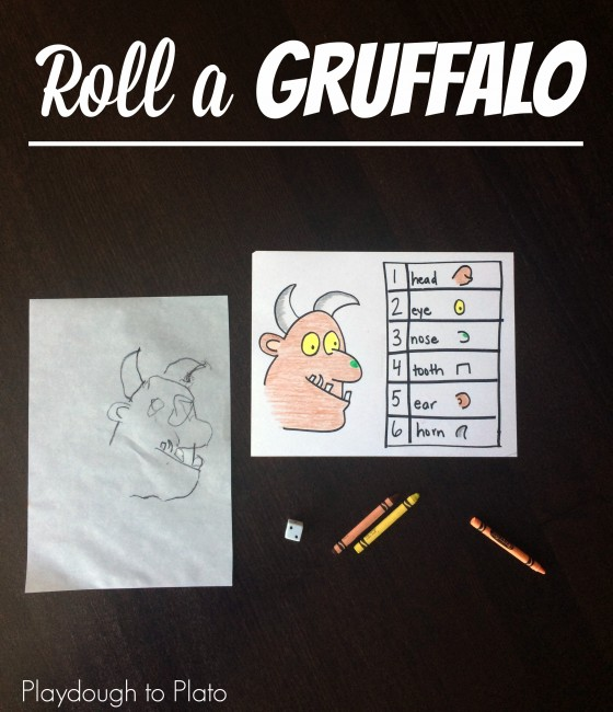 Roll a Gruffalo Game for Kids