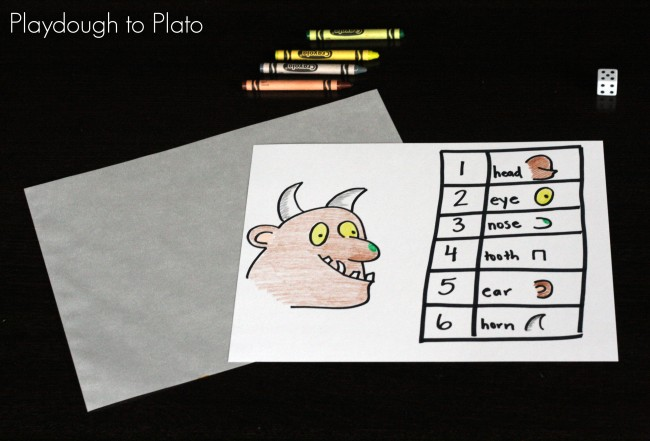 Roll a Gruffalo {Playdough to Plato}