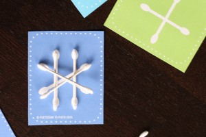 Q-tip Snowflakes