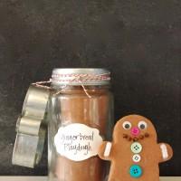 Fun gift idea for kids!! Make gingerbread man kits in a jar. {Playdough to Plato}