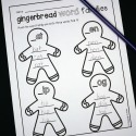 Gingerbread word families! Great for morning work or a gingerbread unit!