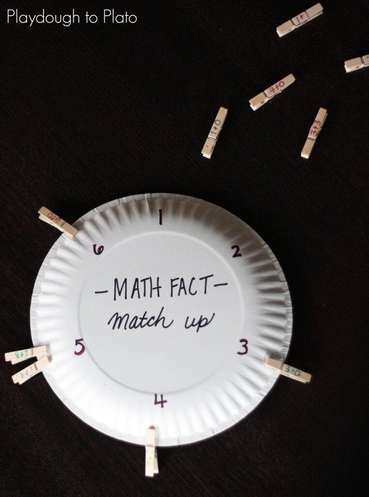 Math Fact Match Up