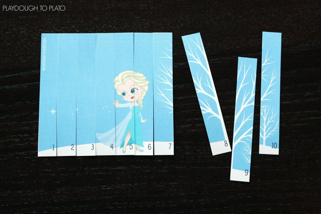 I love these!! DIY Frozen puzzles for kids.