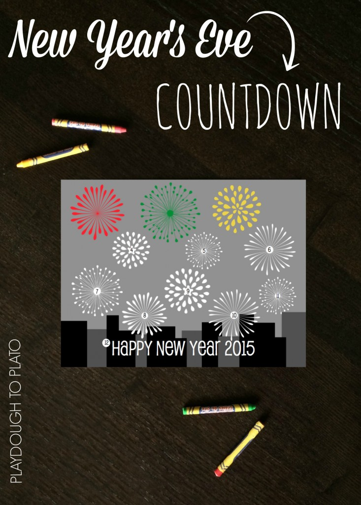 Such a fun way to countdown to 2015 on New Year's Eve. {Playdough to Plato}