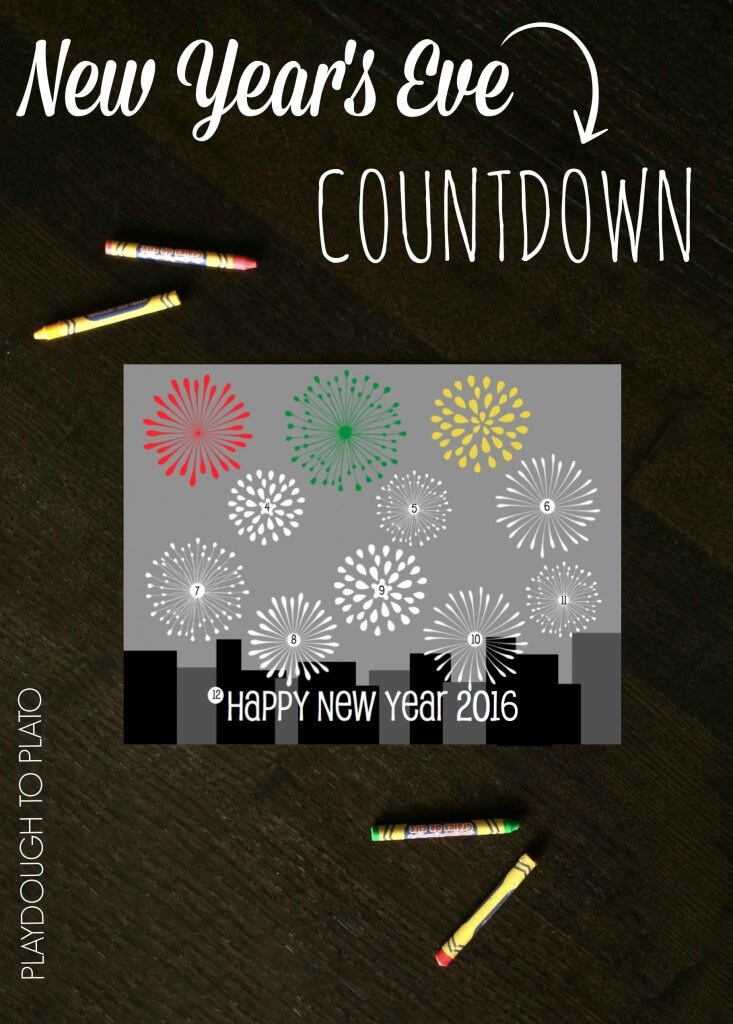 Such a fun way to countdown to 2016. Fun New Year's Eve Countdown for Kids!
