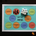 EDITABLE 100th Day of School Trail Mix Mats