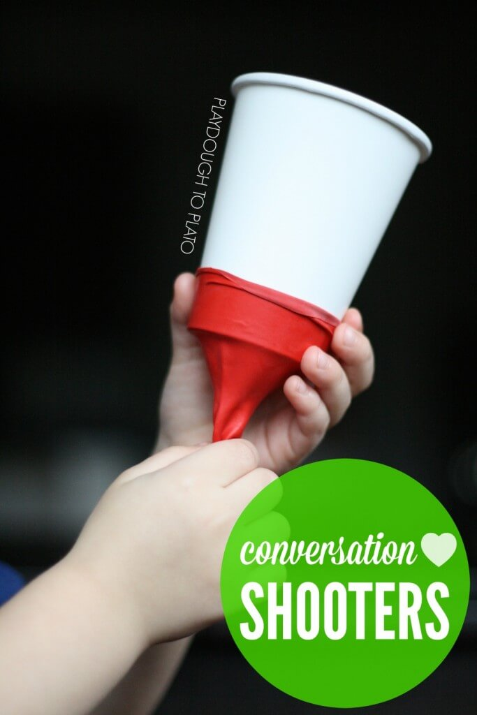 Awesome! Make conversation heart shooters for kids.