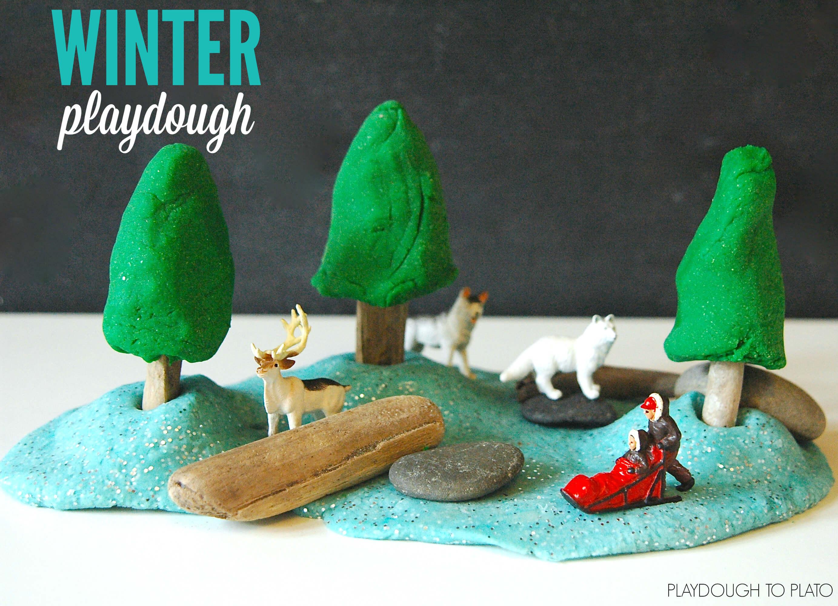 Winter Playdough Playdough To Plato