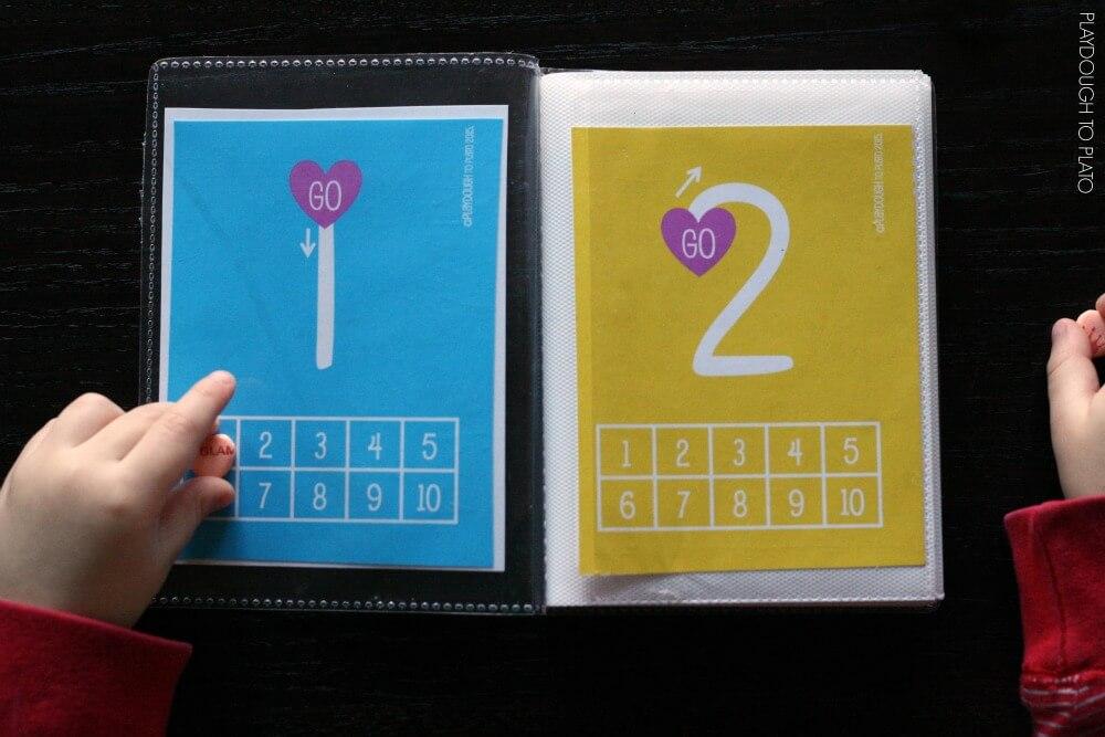 Fun Conversation Heart Number Book for Kids