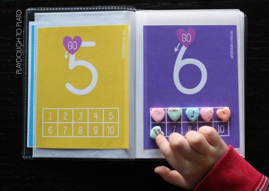 I love this conversation heart number book for kids!