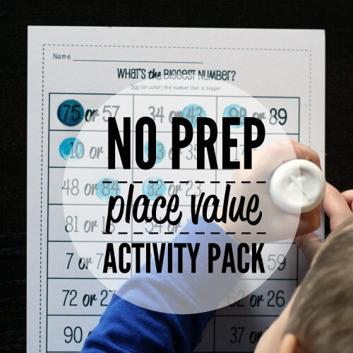 NO PREP Place Value Activity Pack.