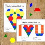 Valentine's Pattern Block Mats