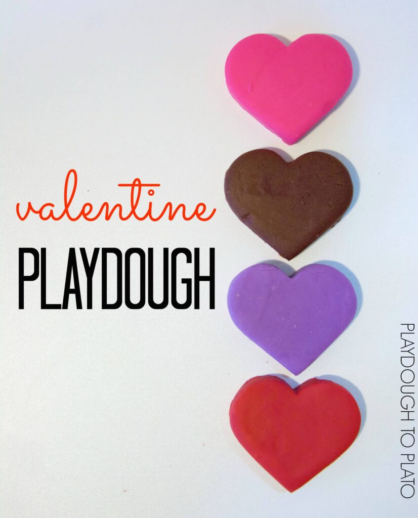 Awesome Valentine Playdough. Candy heart, chocolate, lavender and rose.