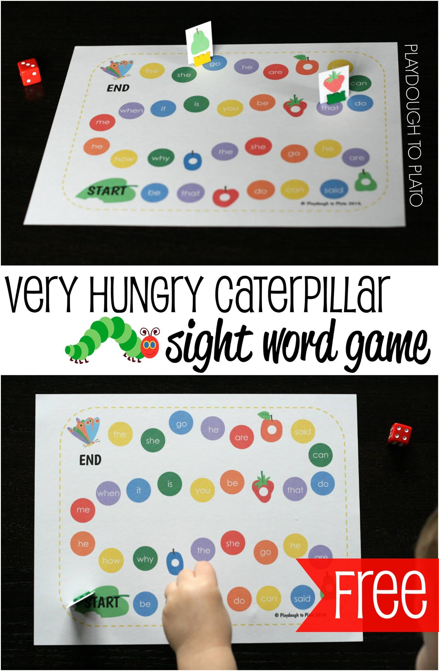 The Really Big Pix Collection Of Famous Mustaches: The Very Hungry Caterpillar Sight Word Game