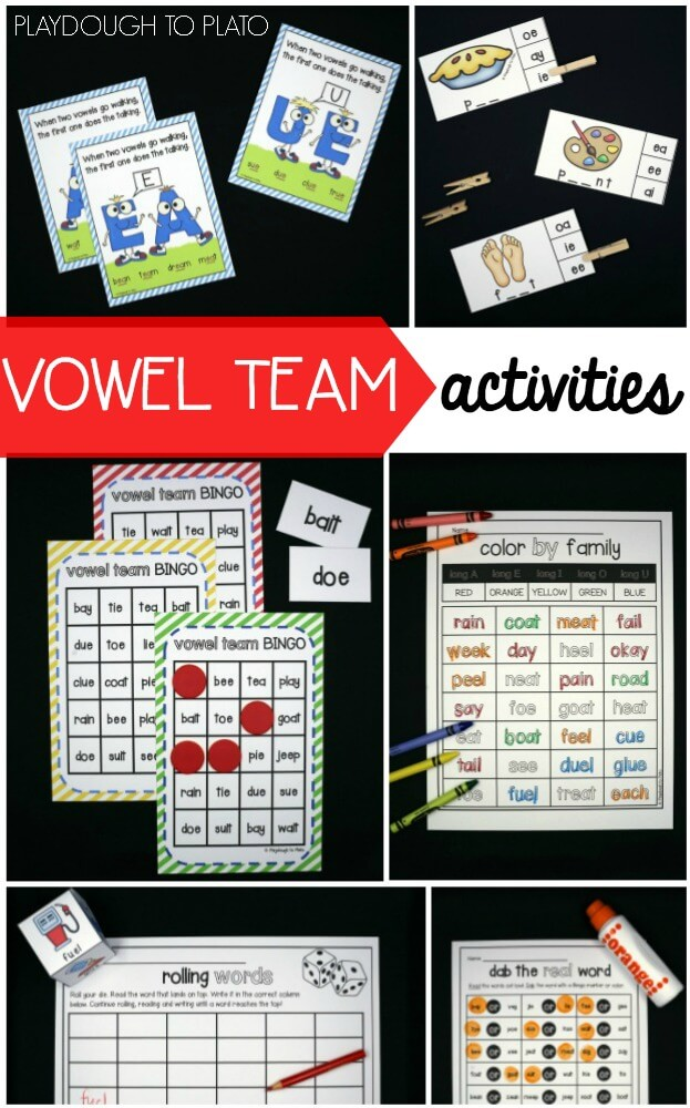 Super Motivating Vowel Team Activities