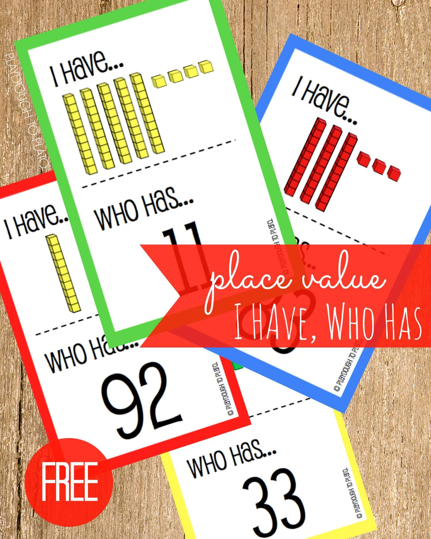 Free Place Value I Have, Who Has