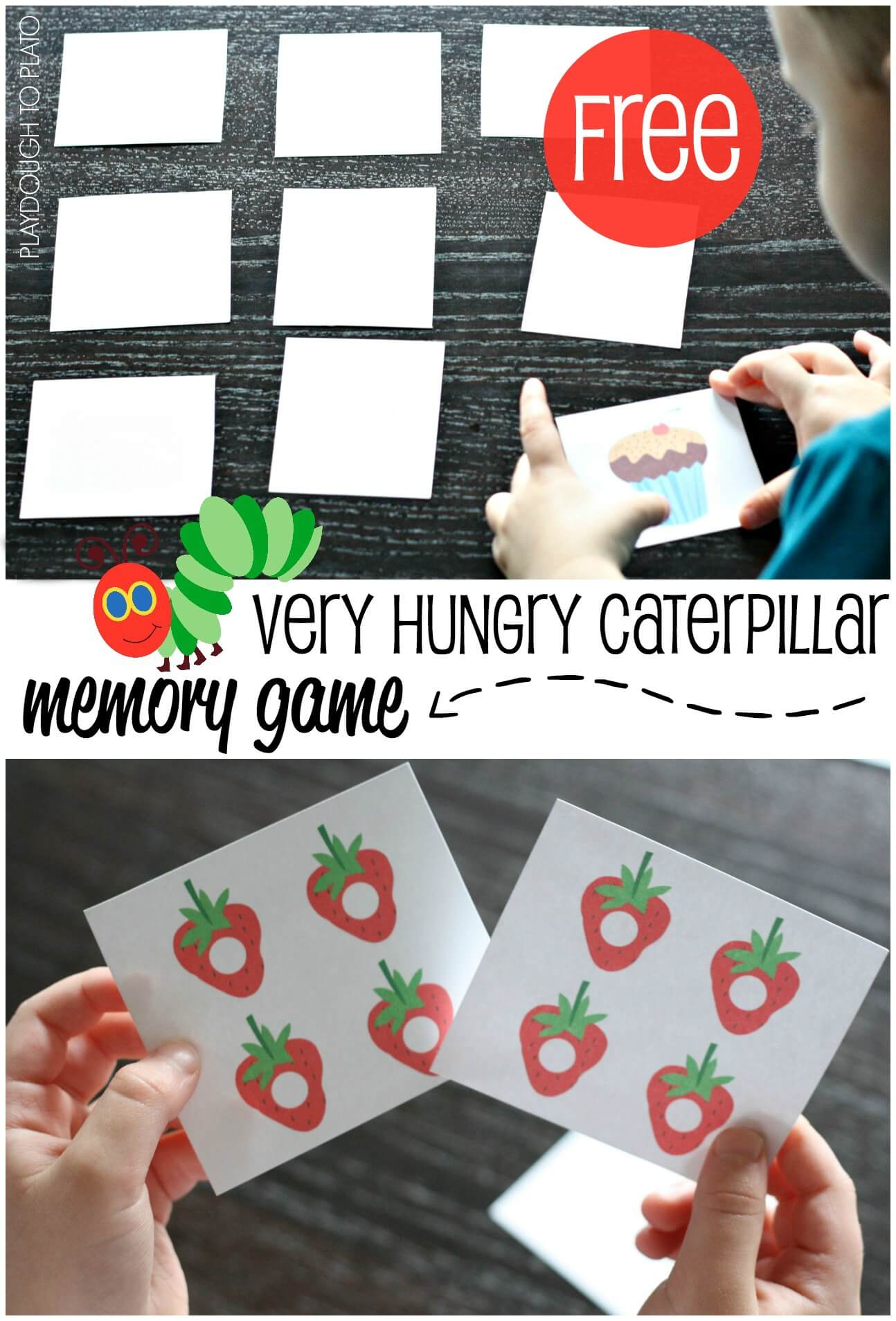 the very hungry caterpillar memory game playdough to plato. Black Bedroom Furniture Sets. Home Design Ideas